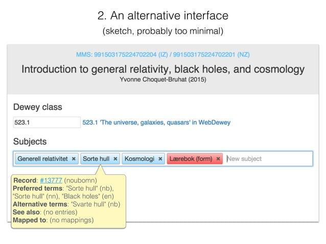 "Record: #13777 (noubomn) Preferred terms: ""Sorte hull"" (nb), ""Sorte hull"" (nn), ""Black holes"" (en) Alternative terms: ""Sva..."