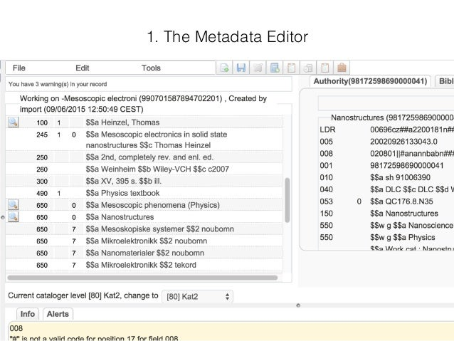 Utilizing the Alma Bibs API to create new workflows for indexers / subject cataloguers (like myself) Slide 2