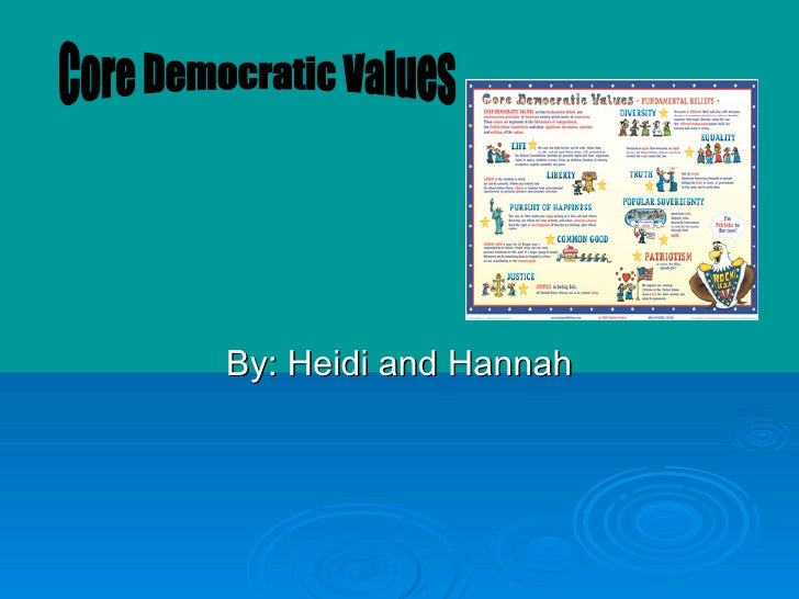 By: Heidi and Hannah Core Democratic Values