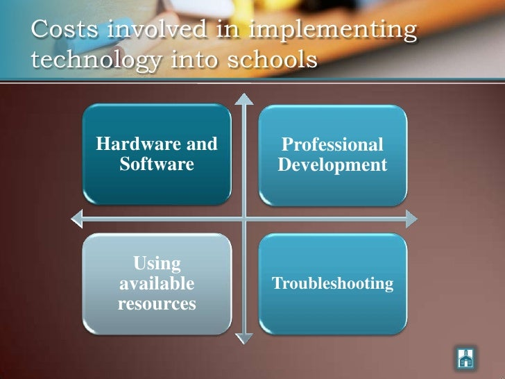 Costs involved in implementing technology into schools        Hardware and   Professional        Software     Development ...