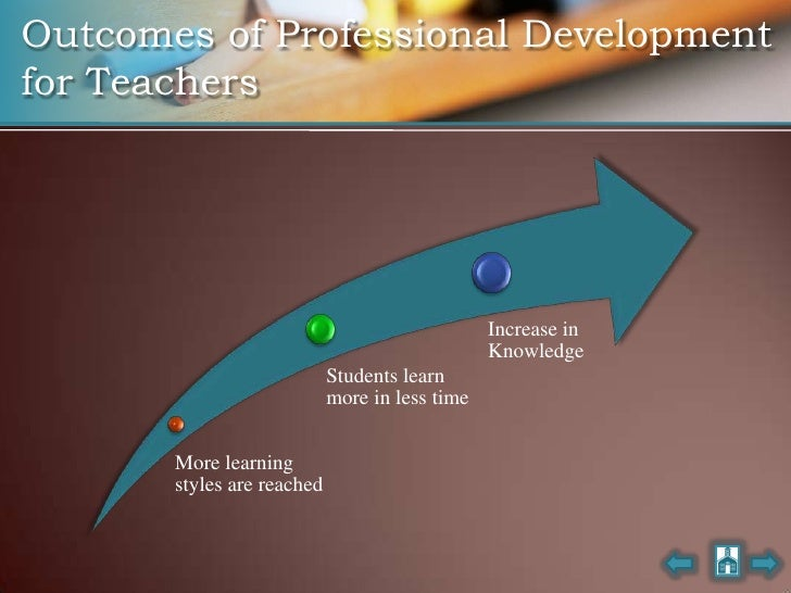 Outcomes of Professional Development for Teachers                                                     Increase in         ...