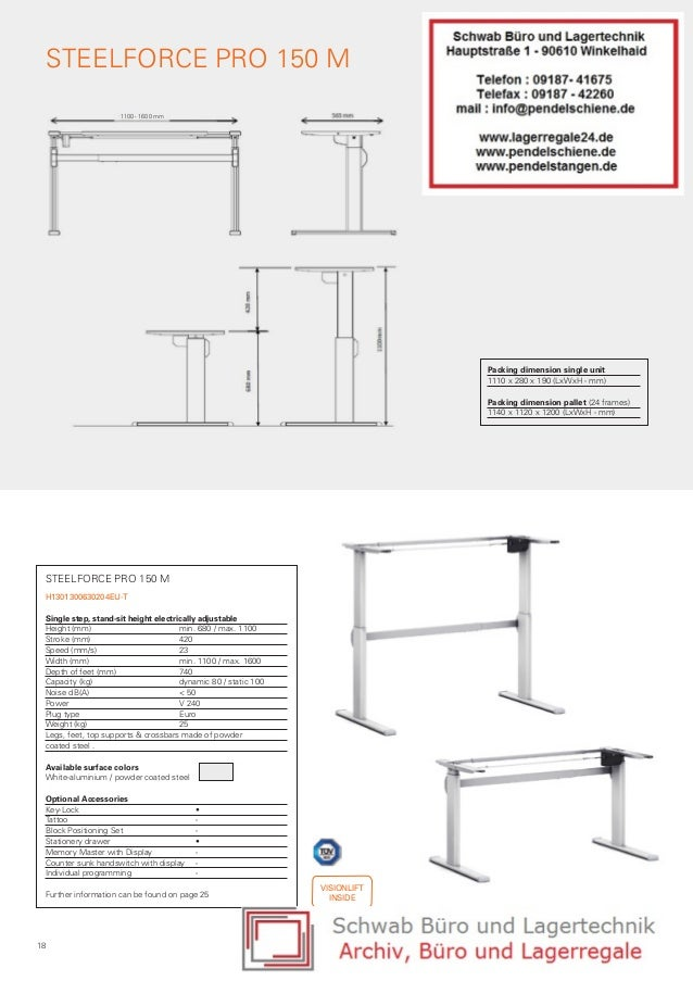 Height adjustable desk and table frames