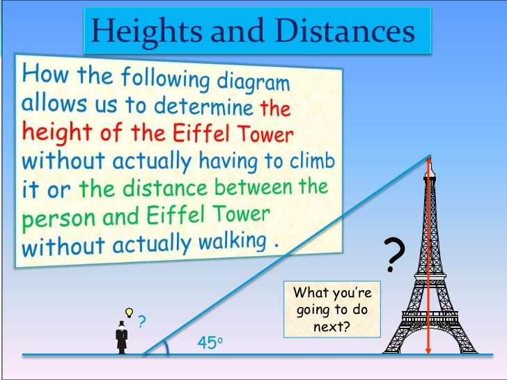 height and distance problems with solution pdf