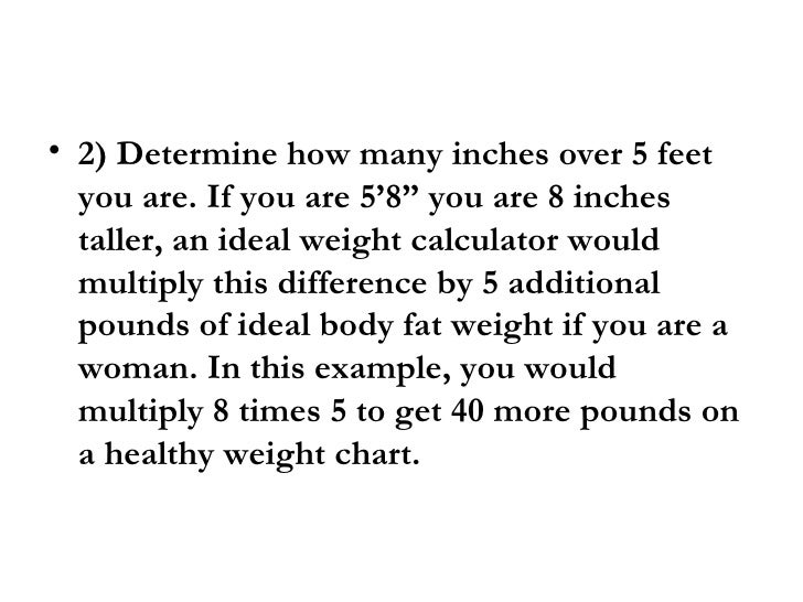 Height To Weight Ratio For Women