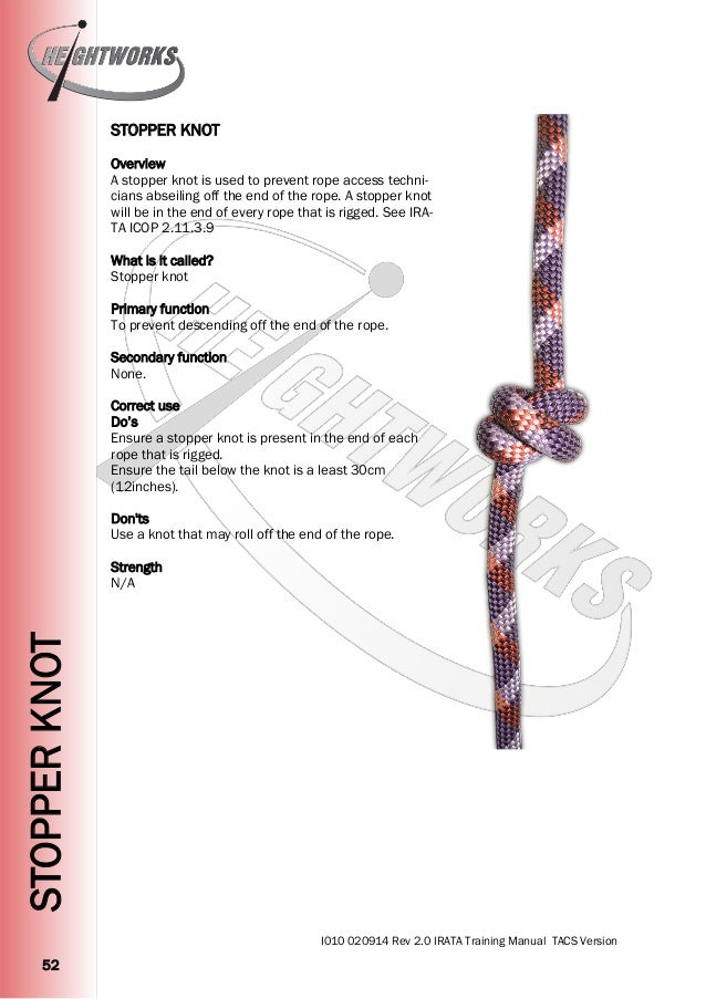 Heightworks IRATA Training Manual Version 2 - Rope Access