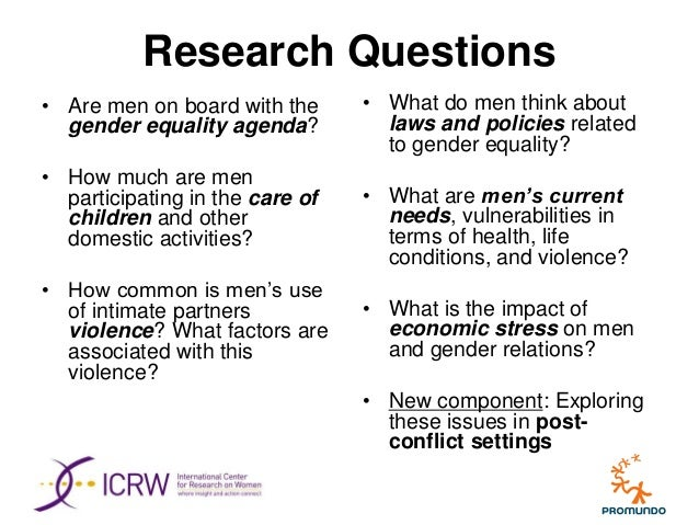 Research paper conflict and gender