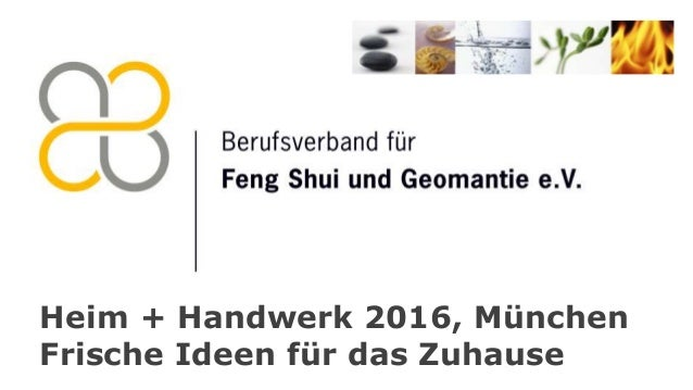 Heim + Handwerk 2016, München Frische Ideen für das Zuhause