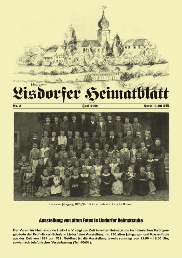 Impressum: Herausgeber: Verein für Heimatkunde Lisdorf e. V. (VHL) Am Ginsterberg 13, 66740 Saarlouis–Lisdorf Tel.: 06831/...