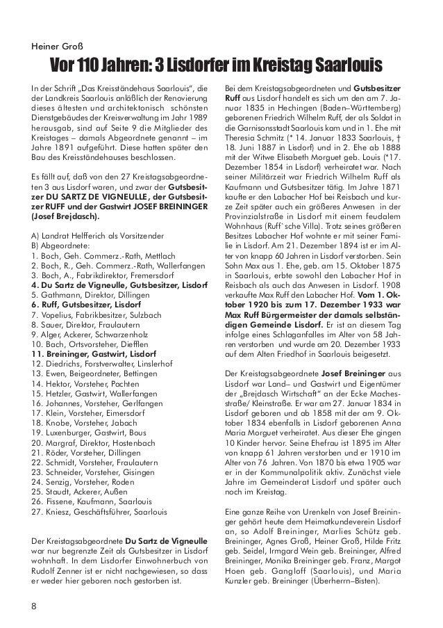 9 AbdruckausderSaar–Zeitungvom18.August1938 Verfasser Johann Port (1911– 1984) Den Beitrag stellte unser Vereinsarchivar G...