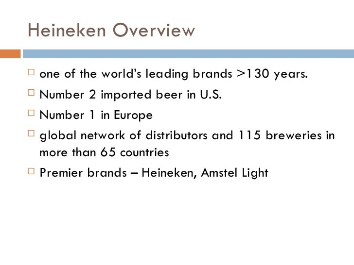 Heineken International Marketing Essay