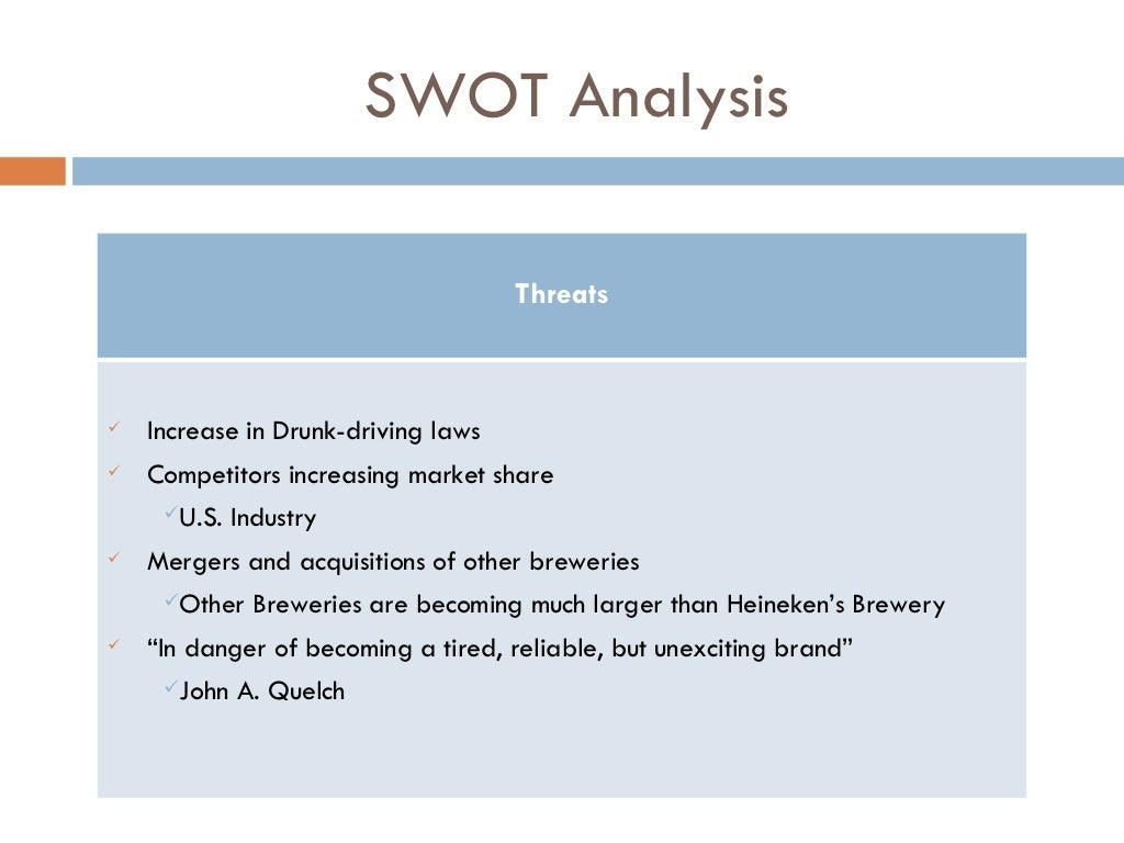 swot analysis of mergers
