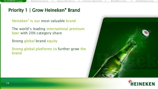 the global branding and awareness at heineken nv Find all the brand rankings where heineken is listed best global brands by interbrand dutch top 100 best brand awareness by je zuster.