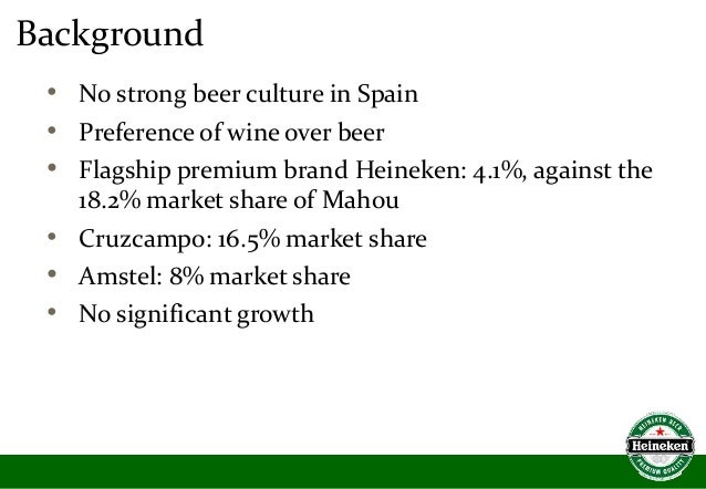 heineken positioning In april, heineken released worlds apart: a campaign promoting openness and exploring whether common ground can unite peoplethe social experiment, documented in a film, required strangers who had opposing beliefs on topics like feminism and climate change to work in pairs to complete a menial challenge.