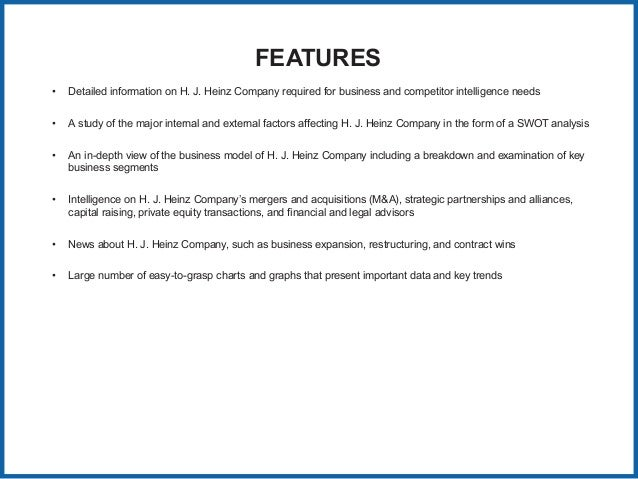 The Kraft Heinz Company: A Short SWOT Analysis