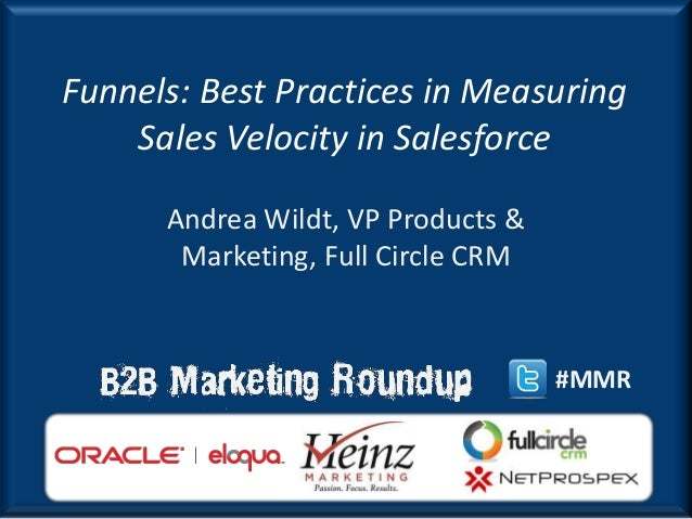 Funnels: Best Practices in Measuring    Sales Velocity in Salesforce      Andrea Wildt, VP Products &       Marketing, Ful...