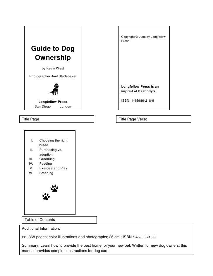 Copyright © 2008 by Longfellow                                                          Press      Guide to Dog       Owne...