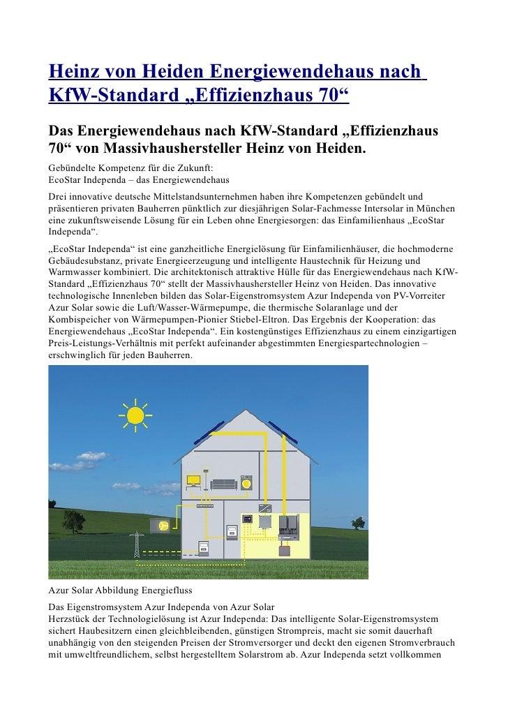 """Heinz von Heiden Energiewendehaus nachKfW-Standard """"Effizienzhaus 70""""Das Energiewendehaus nach KfW-Standard """"Effizienzhaus..."""