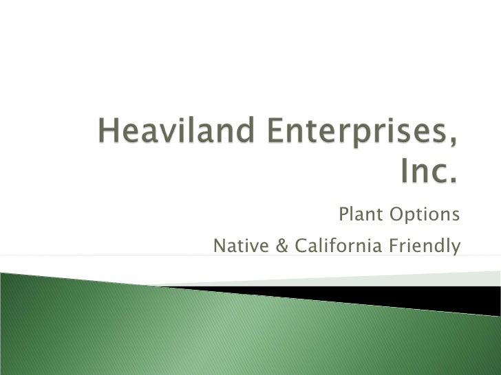 Plant Options Native & California Friendly