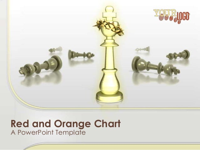 Red and Orange Chart A PowerPoint Template