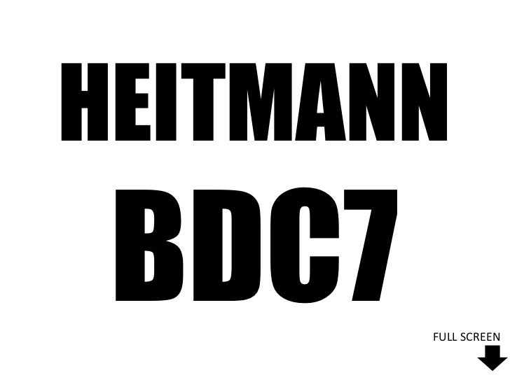 HEITMANN BDC7   FULL SCREEN