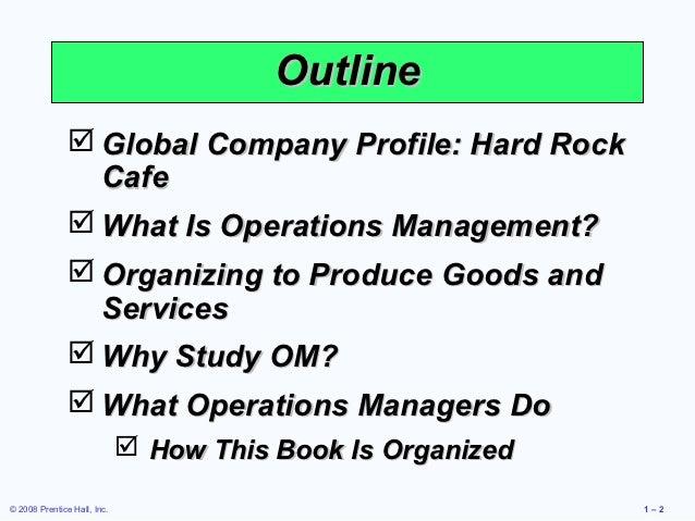 Hard Rock Cafe Operations Management Video