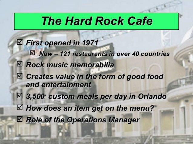 Hard Rock Cafe Management Productivity