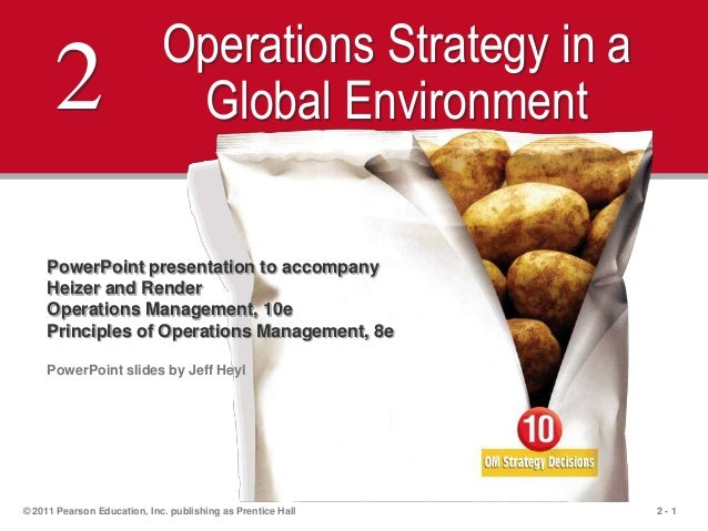 2 - 1© 2011 Pearson Education, Inc. publishing as Prentice Hall2 Operations Strategy in aGlobal EnvironmentPowerPoint pres...