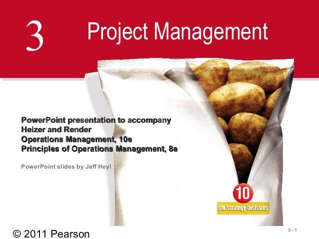 © 2011 Pearson3 - 13 Project ManagementPowerPoint presentation to accompanyPowerPoint presentation to accompanyHeizer and ...