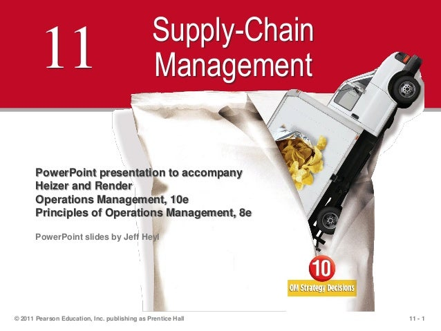 11 - 1© 2011 Pearson Education, Inc. publishing as Prentice Hall11 Supply-ChainManagementPowerPoint presentation to accomp...