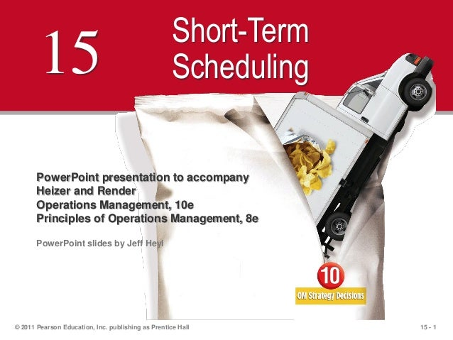 15 - 1© 2011 Pearson Education, Inc. publishing as Prentice Hall15Short-TermSchedulingPowerPoint presentation to accompany...