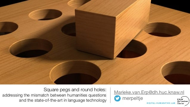 Square pegs and round holes: addressing the mismatch between humanities questions and the state-of-the-art in language tec...