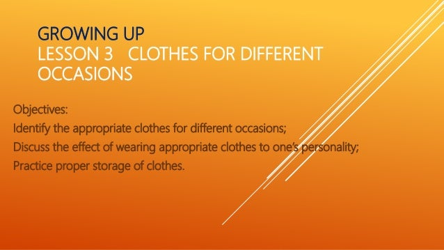 Hele 5 Clothes For Different Occasions