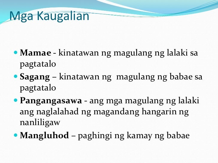 kaugalian at pamahiin Pamahiin this is a tagalog-language page all about filipino superstitions filipinos are very superstitious and we are very happy to be able to share the local knowledge with all tagalog speakers all over the world.
