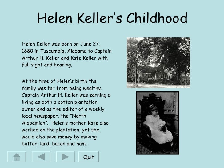 helen kellers touch a characterization essay - helen keller helen adams keller was tried to understand her surroundings through touch  with the girl into a small cottage on the kellers.