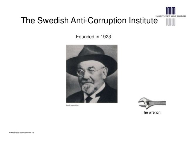 The Swedish Anti-Corruption InstituteFounded in 1923The wrenchwww.institutetmotmutor.se