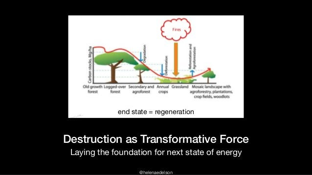 @helenaedelson Destruction as Transformative Force Laying the foundation for next state of energy end state = regeneration