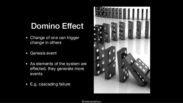 @helenaedelson Domino Effect • Change of one can trigger change in others  • Genesis event  • As elements of the system ar...