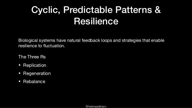 @helenaedelson Cyclic, Predictable Patterns & Resilience Biological systems have natural feedback loops and strategies tha...