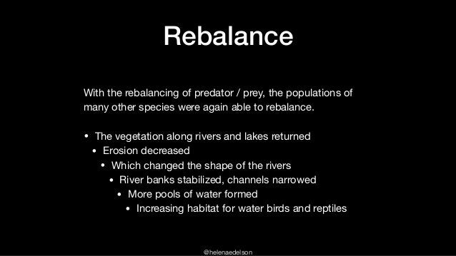 @helenaedelson Rebalance With the rebalancing of predator / prey, the populations of many other species were again able to...
