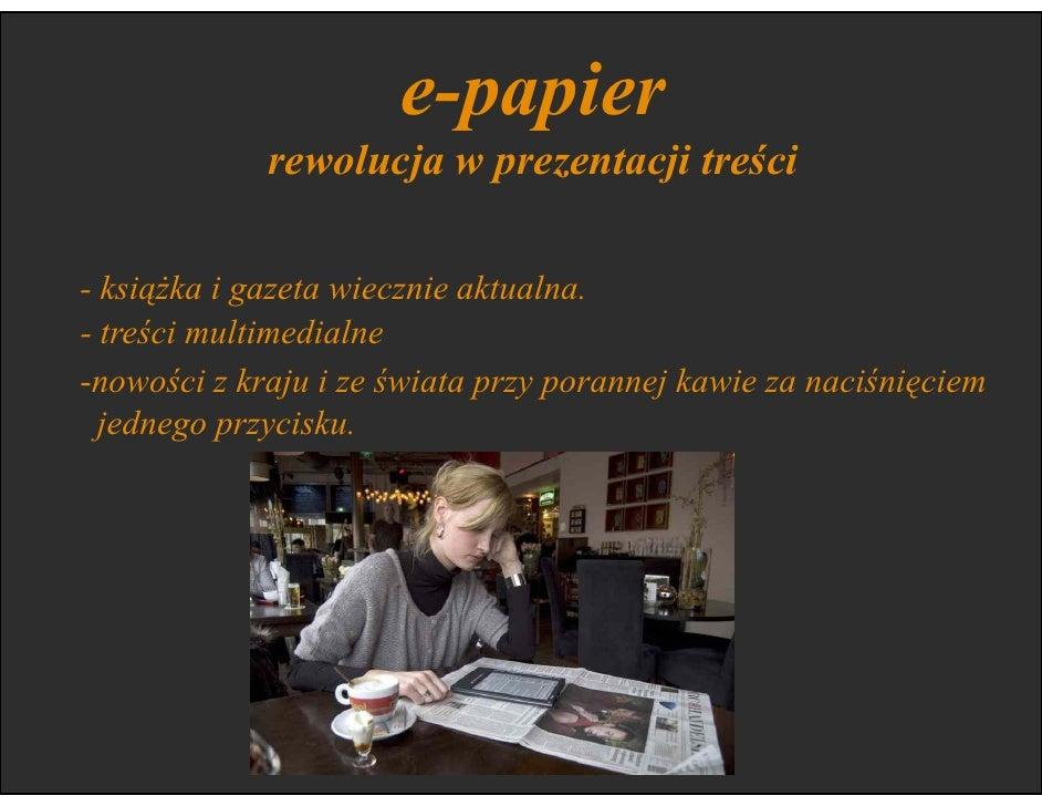 e-papier                 przyjazny dla środowiska      Wszystkie linie lotnicze na świecie planują zamianę   papierowych b...