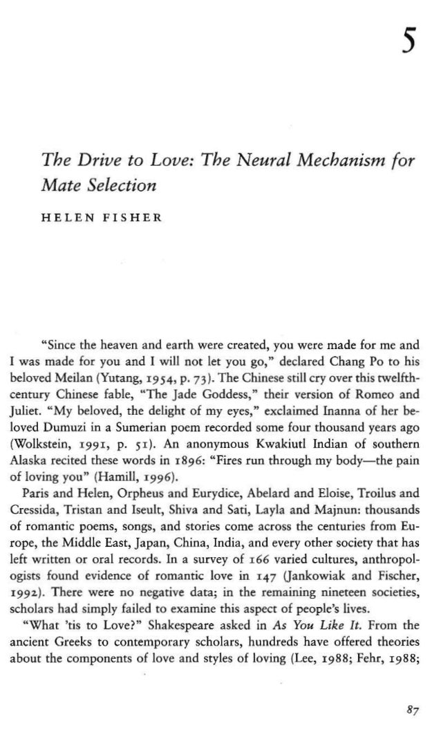 Helen fisher love book