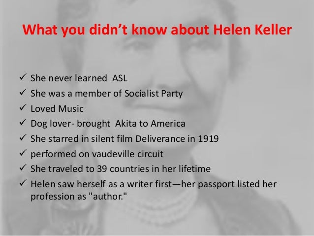 Helen Keller's Vision to Effect Change and Promote Social Welfare