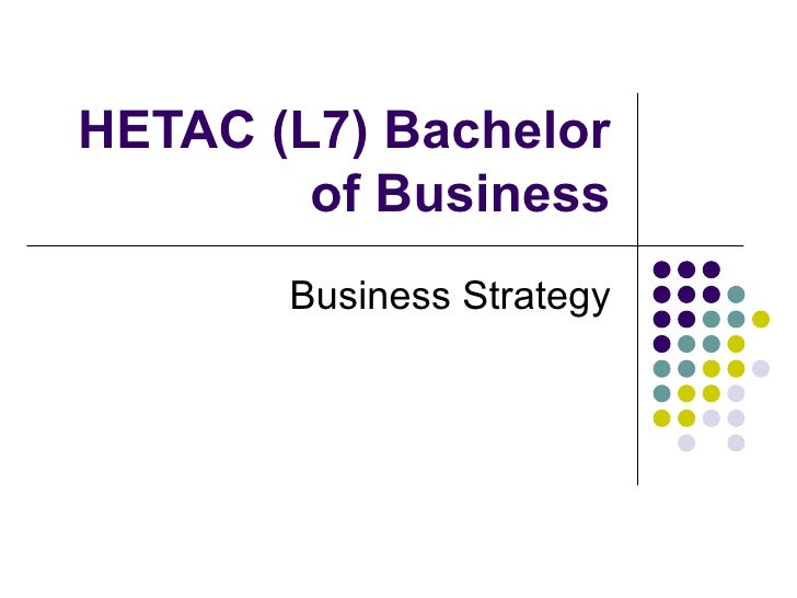 HETAC (L7) Bachelor of Business Business Strategy