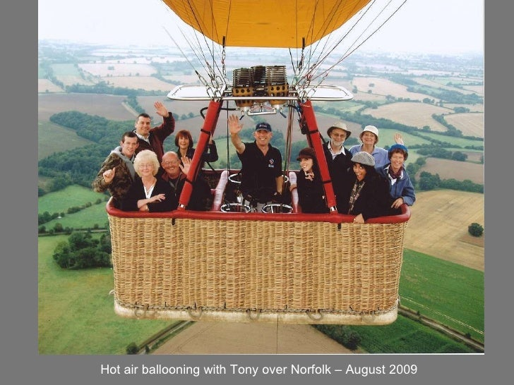 Hot air ballooning with Tony over Norfolk – August 2009