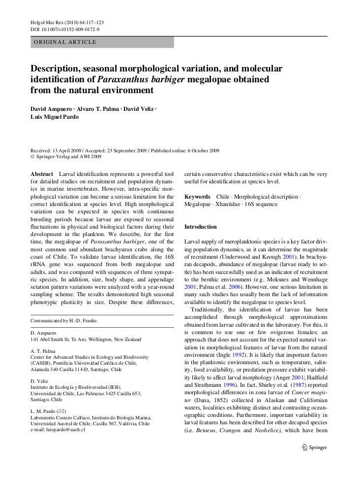 Helgol Mar Res (2010) 64:117–123DOI 10.1007/s10152-009-0172-9 O R I G I N A L A R T I CL EDescription, seasonal morphologi...