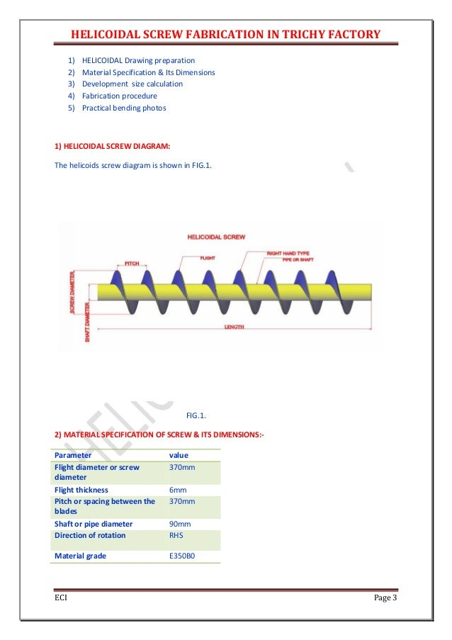Helical screw design calculation1