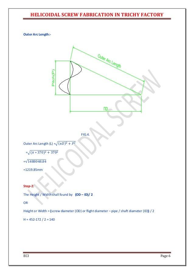 Helical screw design calculation1