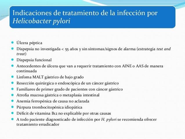  Recomendación B1: Para el diagnóstico no invasivo de la infección por H. pylori, se  recomienda la prueba del aliento co...