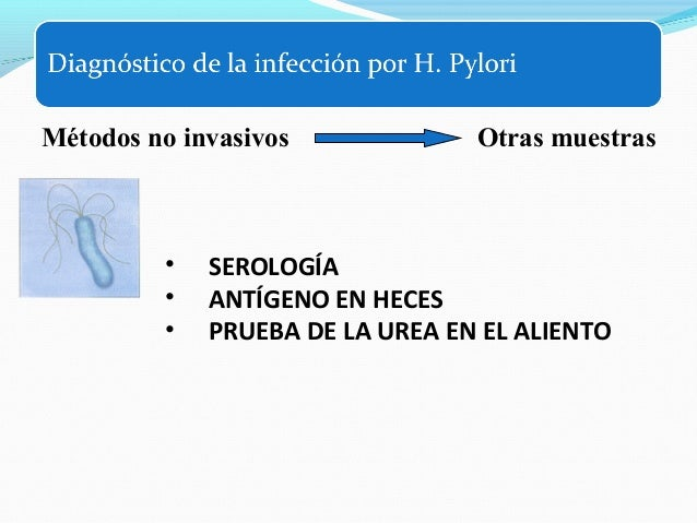 Seguimiento posterradicación   Los test no invasivos deberían emplearse para  confirmar la erradicación.   El test del a...