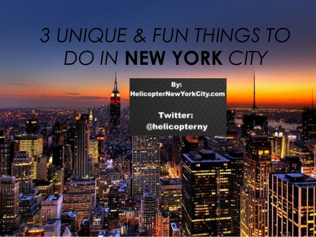 3 UNIQUE & FUN THINGS TO DO IN NEW YORK CITY